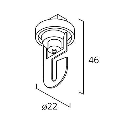 Mechanischer Universalhaken für 3~ Stromschiene schwarz   99-067-2 von Licht-Zubehoer.de bei Lampenhans.de
