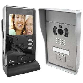 IDK PVNC-100 Visiophone couleur sans fil transmission numérique/2 ouvertures gâche/portail