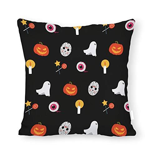 DKISEE Kissenbezug, abstraktes Blumenmuster, quadratisch, für Sofa Couch Stuhl 22