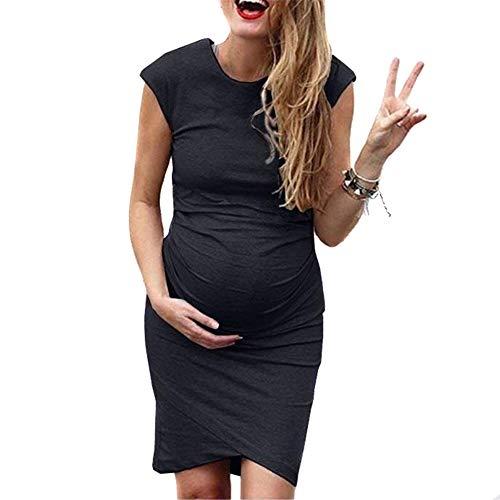 Damen - Umstandskleid - Kurzarm - Sommerkleid für Schwangere, Glomixs Damen Mutterschafts Kleid Umstands Kleid Stillkleid Damen Umstandskleid Maternity Schwangerschaftskleid S-5XL