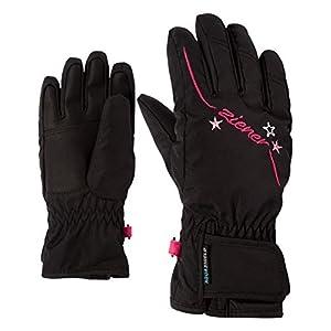Ziener Mädchen Lula As(r) Girls Glove Junior Ski-Handschuhe/Wintersport   Wasserdicht, Atmungsaktiv