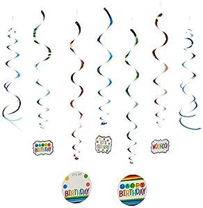 Amscan International-670601Rainbow personalizable Swirl Kit de decoración