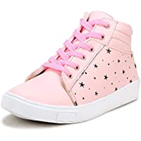 Zapatoz Women's/Ladies/Female's Synthetic Leather Pink Casual Ankle Boots Fit Shoes/Casual Ankle Boots Running/Gym Shoes_(zap7607-Pink-36)