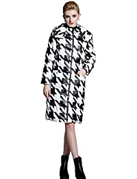 Queenshiny Long to knee Women's Down Coat hooded Goose down filling winter uk size from 8--18