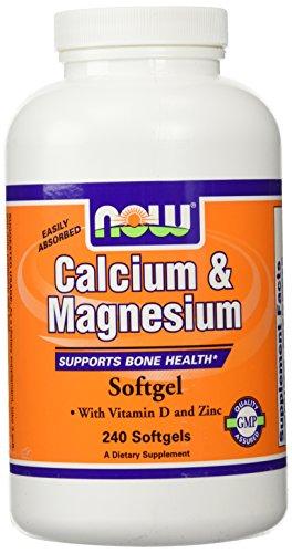Calcium & Magnésium - 240 gelules liquides - Now foods