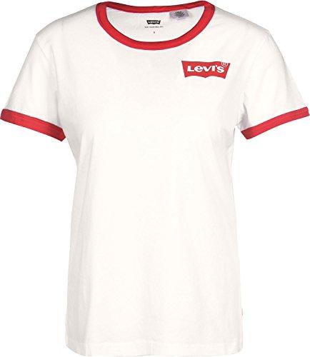 Levis T-Shirt Women Perfect Ringer Tee 35793-0000 Creme, Größe:M (Damen Ringer Tee)
