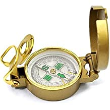 ZQ Estilo militar Brunton Classic Lensatic Brújula-Gold , golden