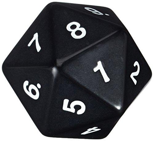 Koplow Games 14796 - W20 Countdown Würfel, 55 mm, schwarz