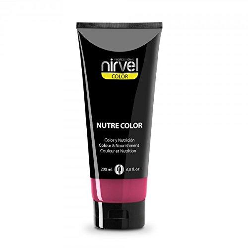 Nirvel NUTRE COLOR FLUOR Fresa 200 mL Mascarilla Profesional - Coloración temporal - Nutrición y brillo...