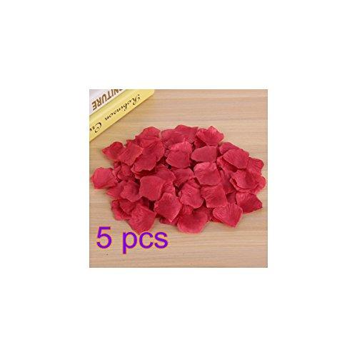 Rosenblätter 5000Pcs culticolor Künstliche Blütenblätter für Hochzeit Party Dekoration, weinrot, 5x5cm
