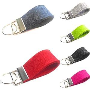 Schlüsselanhänger klein personalisiert Wollfilz Filz