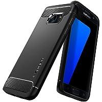Spigen Coque Galaxy S7, [Rugged Armor] Retablissement [Noir] Ultimate Protection Contre Les Chutes et Les impacts, Coque pour Samsung Galaxy S7 (2016) - (555CS20007)