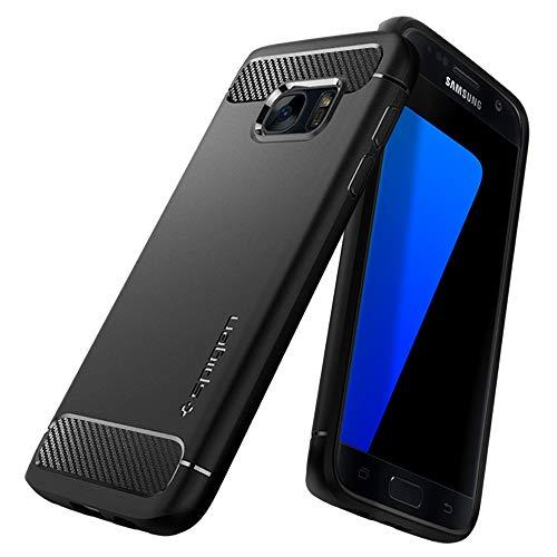 c2a6ecba7b8 spigen Funda Galaxy S7, Rugged Armor Carbon Fiber Design Compatible con Galaxy  S7 2016 -