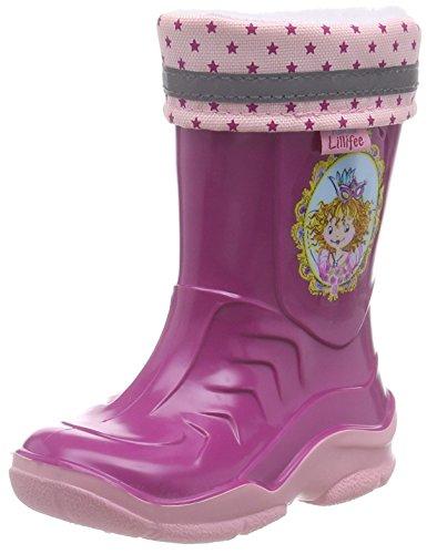 Prinzessin Lillifee 120113, Bottes mi-hautes en caoutchouc avec doublure chaude fille Rose - Rose fuchsia