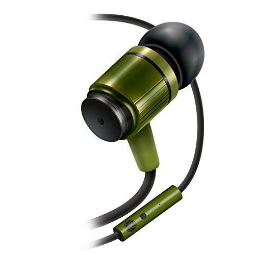 GOgroove RNF Robuste In-Ear Ohrhörer/Kopfhörer mit limitierter lebenslanger Garantie, langlebigem verstärktem Kabel, Freisprechfunktion (Mikrofon integriert) & Geräuschisolation - Funktioniert mit Apple iPhone 6s Plus , Samsung Galaxy S6 Edge Plus , Sony Xperia Z5 & mehr Geräten (Grün)