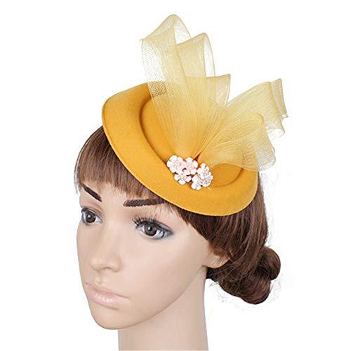 WDWL Blumen Cocktail Tea Party Kopfschmuck Feather Glamour Girl und Lady Derby Hat WD -