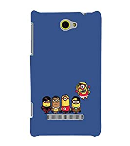 printtech Minions Big Bang Theory Back Case Cover for HTC Windows Phone 8S