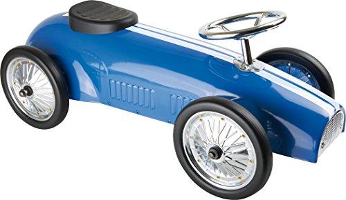Small Foot - 6507 - Porteur Voiture de Rallye Bleue
