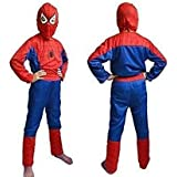 TONY STARK Polyester Halloween Cosplay Mind Masala Spiderman Costume for Kids, 3-4 Years (Violet and Red)