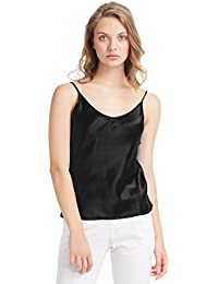 be90839d38 LILYSILK Womens Silk Camisole 100 Pure Mulberry Silk Tank Tops   Ladies Cami  Top with Soft