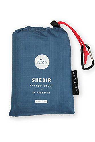 NORDKAMM - Picknickdecke wasserdicht S, ideal als Pocket Blanket, Ground Sheet, Stranddecke, Taschendecke, Campingdecke, Sitzunterlage. Ultraleicht u. kompakt für Strand, Camping, Outdoor