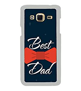 Best Dad Red Bow 2D Hard Polycarbonate Designer Back Case Cover for Samsung Galaxy J3 2016 :: Samsung Galaxy J3 2016 Duos :: Samsung Galaxy J3 2016 J320F J320A J320P J3109 J320M J320Y