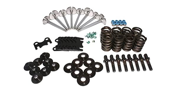 RHS 12972-01 Cylinder Head Assembly Kit with Single Valve Springs and 2.020//1.600 Valves for Small Block Chevy