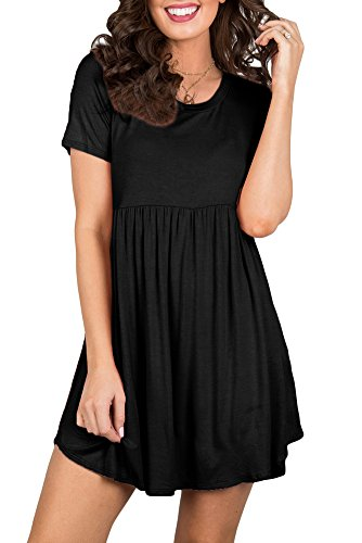For G and PL Women's Summer Swing Plus Size T Shirt Dress