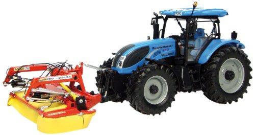 Universal Hobbies Landini Powermaster 220 Traktor mit Front Mähwerk Fella SM310 (Traktor Landini)