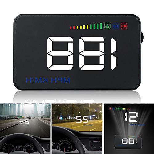 GOFORJUMP Head Up Display A500 Auto Geschwindigkeit Projektor 3,5 Zoll Universal Auto-styling Windschutzscheibe OBD2 GPS Digital Auto Tacho Alarm - Gps-auto-tacho
