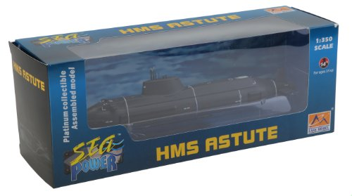 Easy Model 37502 HMS Astute Central Submarine 1:350 Plastic Scaled Model
