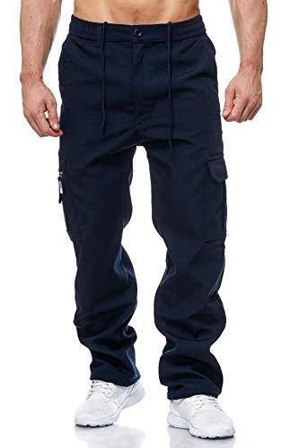 EGOMAXX Herren Cargo Hose Arbeitshose Gefüttert Workwear H2000, Farben:Blau, Größe Hosen:XL