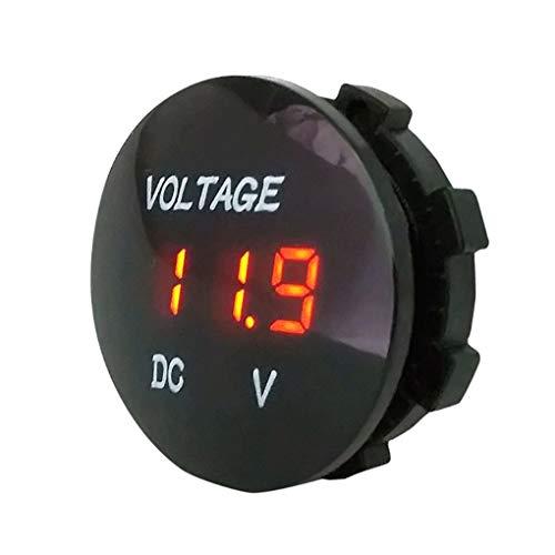 Bobury Étanche DC 5-48V Panneau voltmètre numérique Compteur testeur de Tension LED de Remplacement d'affichage pour Auto Moto Bateau