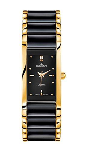 Dugena Men's Quartz Watch with Black Dial Analogue Display Quartz Ceramic 4460591
