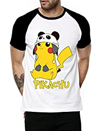 Fanideaz Cotton Cute Pikachu Pokemon Half Sleeve Raglan T Shirt For Men
