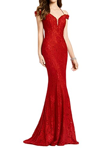 Victory Bridal - Robe - Crayon - Femme Rouge