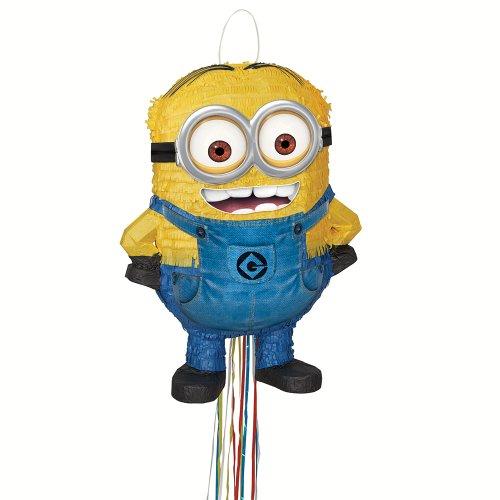 Minion Pinata 3D DAVE 50 cm x 35 cm gelb Kindergeburtstag Pullpinata
