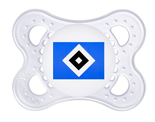 "Preisvergleich Produktbild MAM 67239200 – Schnuller, Bundesliga, Football ""Hamburger Sportverein"" 0-6 Monate, Silikon, Doppelpack"