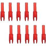 Generic 10pcs Archery Nock Arrow Shaft End Accessories G size -Transparent Red