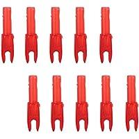 10pcs Flecha Cabeza Culatín Accesorio de Tiro Plástico Rojo Transparente