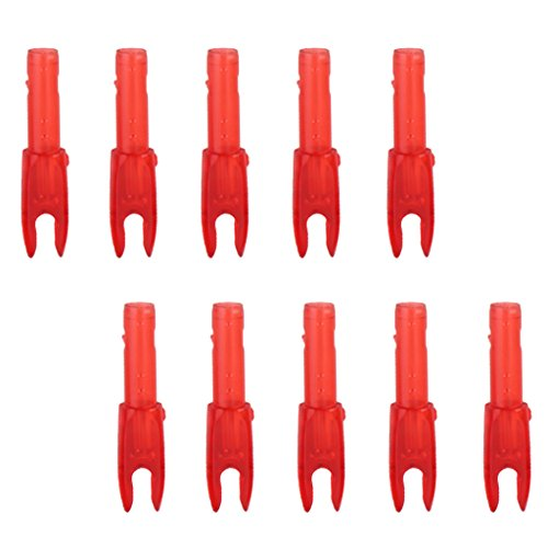 10pcs Encoche de la Flèche en Plastique Accessoire pour Tir à L'arc - Rouge