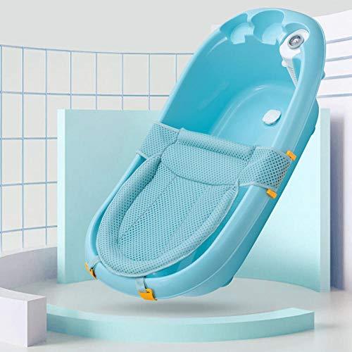 vaschetta per bagnetto neonato,Vaschetta per il bagnetto, può sedersi con il tappetino 4D sospeso @blue_Without_electronics