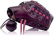 ALL SPORT VINTAGE - Gant De Baseball - Marron Vintage - Cuir De Vachette - Cousu Main - Fabrication Française