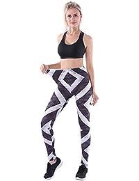 FELZ Leggings Deportivas para Mujer Leggings Mujer Deportivos Pantalones de Yoga Puntos con Leggings Estampados Atlético Pantalones para Yoga Running Trainning