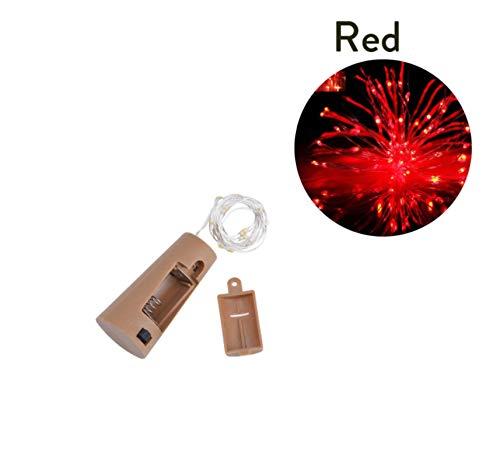Rot 2M 20LED LED Cork Shaped Flaschenverschluss Licht Glas Wein LED Kupferdraht Lichterketten für Weihnachtsbeleuchtung Party Hochzeit