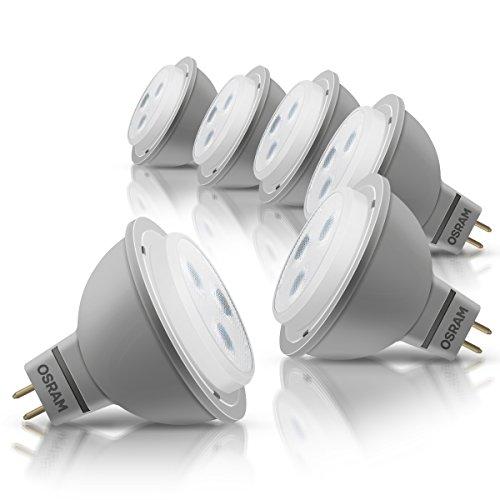 36 Ersatz (OSRAM LED-Reflektorlampe GU5.3 Star MR16 12V / 3W - 20 Watt-Ersatz, LED-Spot Abstrahlungswinkel 36° / kaltweiß - 4000K, 6er Pack)