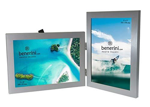 2 Imagen - 5 x 7 Pulgadas Aluminio Cepillado Color