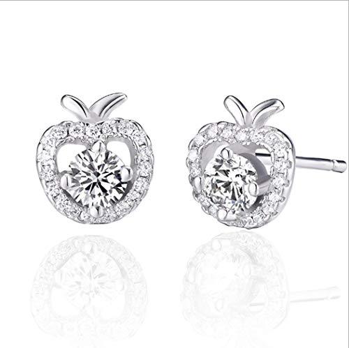 YOYOYAYA 925 Silber Ohrringe Weiblich Ornamente Mädchen Simple Ohrringe Parteien Termine Anhänger Antiallergisches Apple