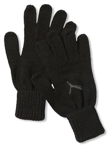 PUMA Handschuhe Fundamentals Knit Gloves, Black/Dark Shadow, M/L, 040862 01 (Glove Dark Shadow)