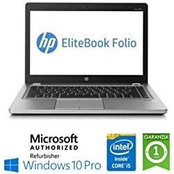 "Ordinateur Portable HP EliteBook Folio 9470M Core i5-3437U 8 Go 128 Go SSD 14"" Windows 10 Professional (reconditionné)"